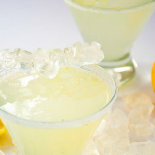 Sparkling Lemon Drop Martinis