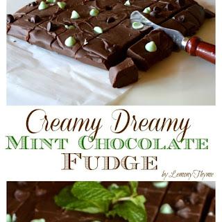 Creamy Dreamy Chocolate Mint Fudge