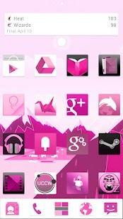 Pink Now GO Launcher EX Theme