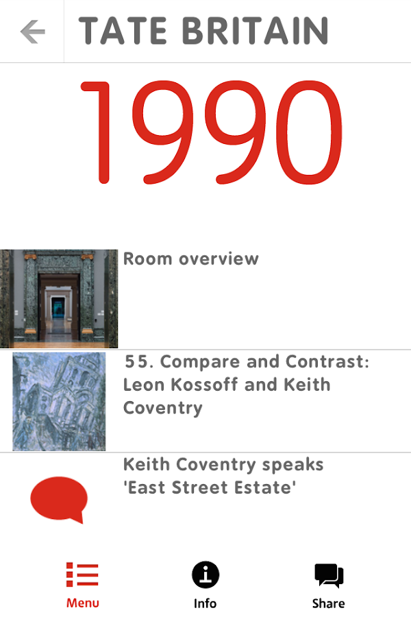 Tate Britain Mobile Guide - screenshot
