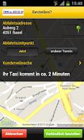 Screenshot of 33er Taxi Basel