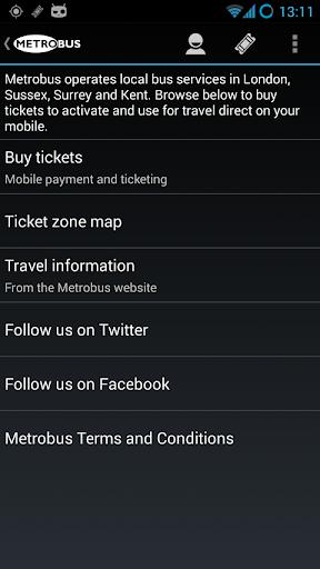 Metrobus M-Tickets