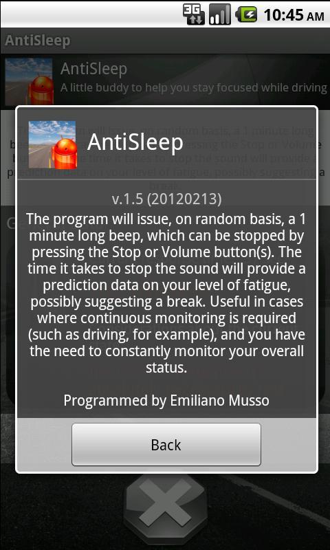 Anti Sleep- screenshot