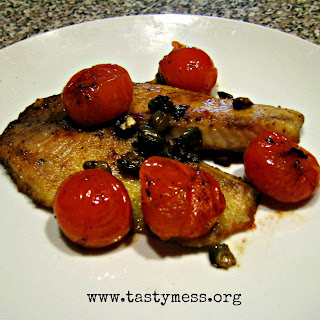 Simple Tilapia with Fresh Tomatoes.