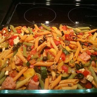 Zucchini, Sausage, and Feta Casserole
