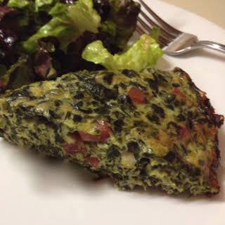 Crustless Spinach Ham and Gouda Cheese Quiche.