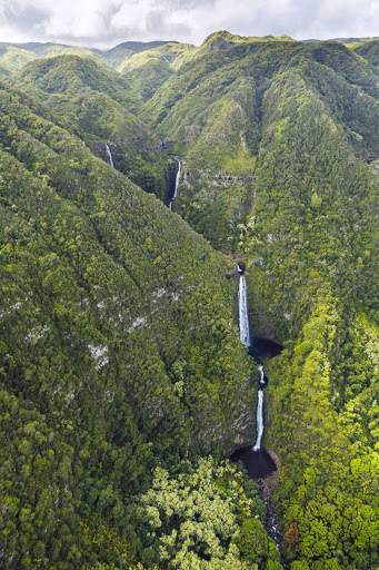 waterfalls-on-Molokai - Remote waterfalls on the island of Molokai.