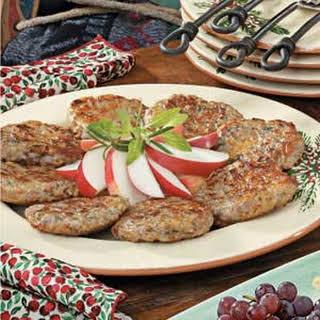 Homemade Sage Sausage Patties.