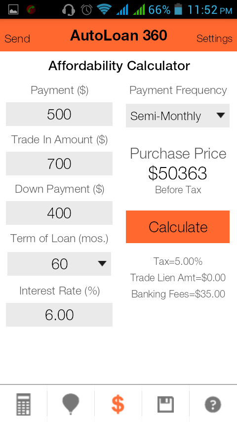 Auto Loan Calculator 360- screenshot