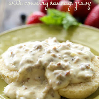 Biscuits with Country Sausage Gravy.