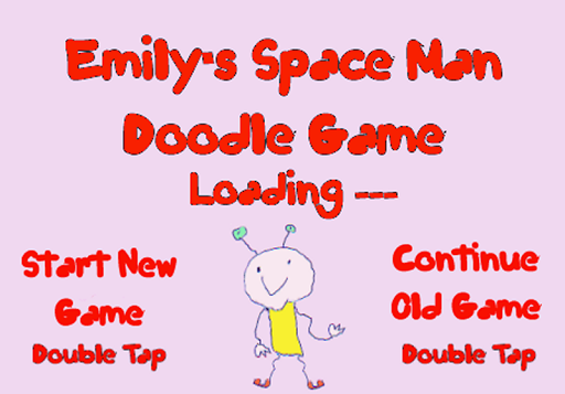 Emily's Space Man Doodle Game