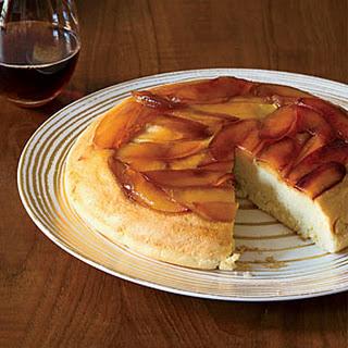 Light and Fluffy Baked Apple Pancake.