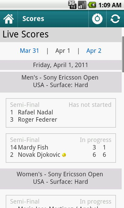 Sports Eye - Tennis (Lite) - screenshot