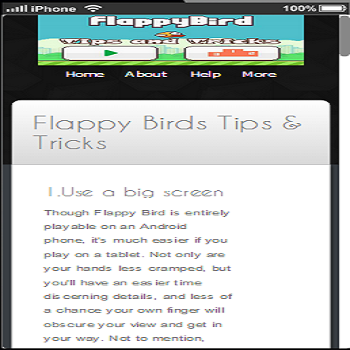 Tips Tricks of Flappy Birds