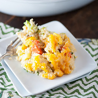 Cheesy Quinoa Vegetable Bake