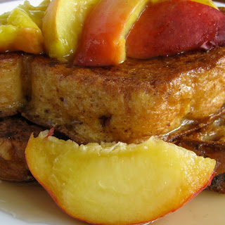 Bourbon Peach French Toast.
