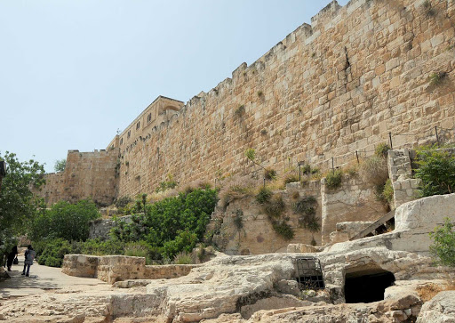 Jerusalem-fortress - The walls fortifying the outer perimeter of Old Jerusalem.