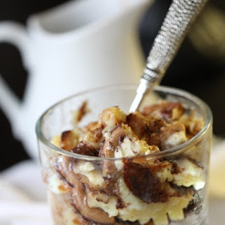 Cheesecake Cookie Bread Pudding….with Caramel Sauce.