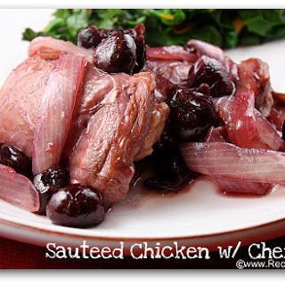 Sauteed Chicken with Cherries