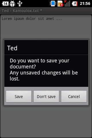 Ted (Text Editor)- screenshot