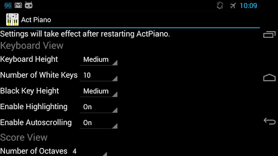 Act Piano screenshot