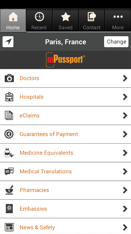 mPassport - screenshot