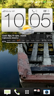 HTC Sense 5 clock & weather  + - screenshot thumbnail