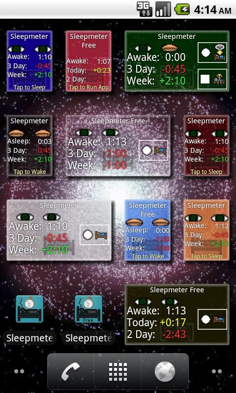 Sleepmeter Widget- screenshot