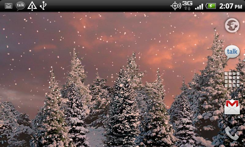 Snowfall Free Live Wallpaper- screenshot