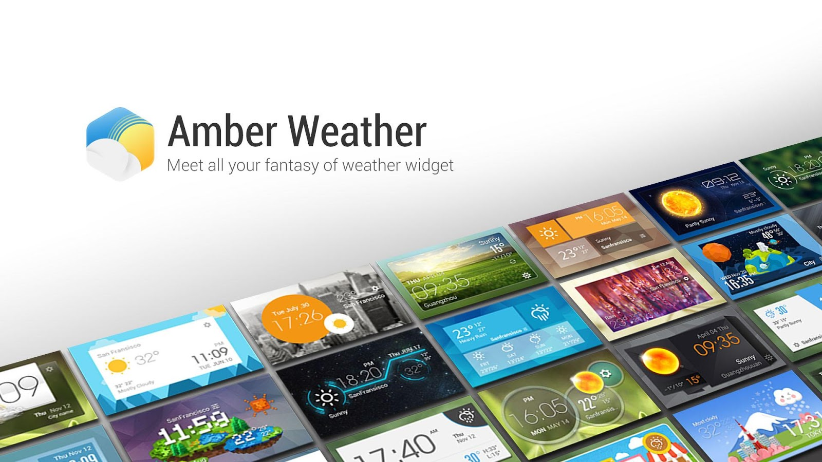 Amber Weather (EZ Weather HD) - screenshot