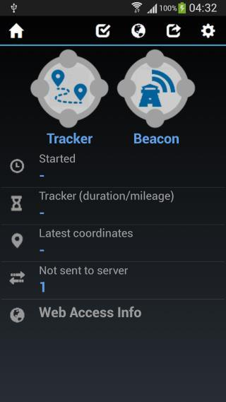 GPS Tracker and Beacon- screenshot