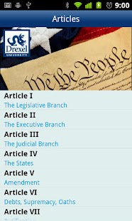 Drexel U.S. Constitution - screenshot thumbnail