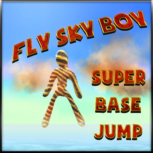 飞天超级男孩基地跳跃 體育競技 LOGO-玩APPs