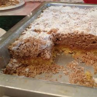 Outrageously Buttery Crumb Cake.