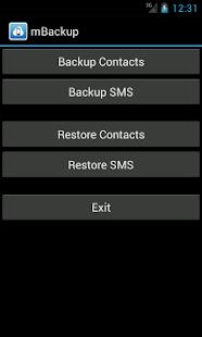 mBackup (beta) - screenshot thumbnail