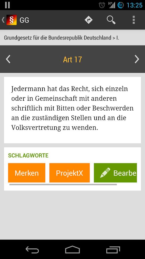 Gesetze- screenshot