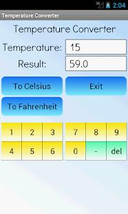 Převodník teploty - náhled