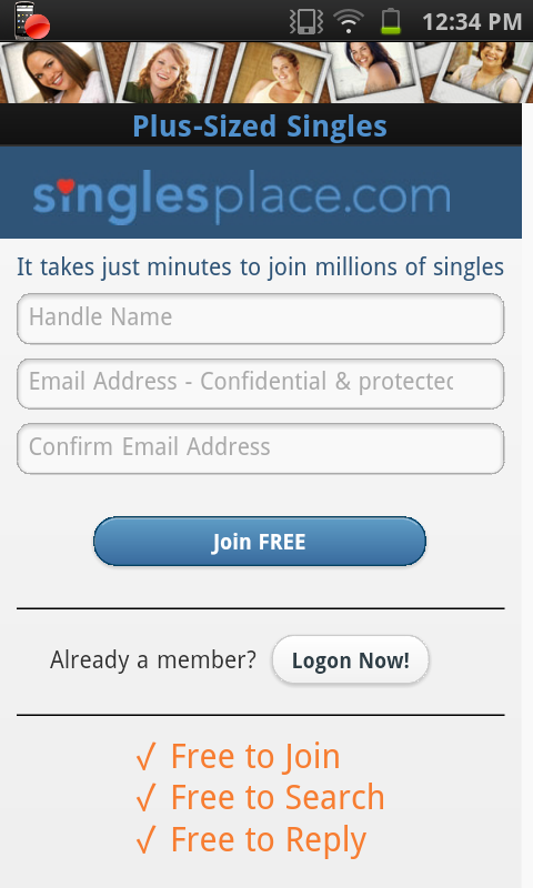 Free dating site for plus size