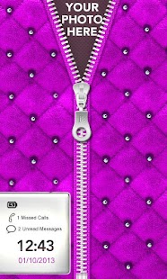 ★ Purple Zipper Lock Screen ★ - screenshot thumbnail