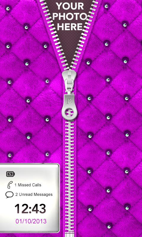 ★ Purple Zipper Lock Screen ★ - screenshot