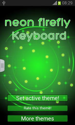 霓虹燈螢火蟲鍵盤