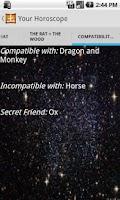 Screenshot of Your Chinese Horoscope