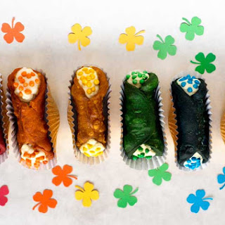 Rainbow Colored Cannoli