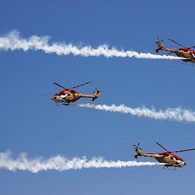 Sarang - Indian Air Force by Guru Prasad - Transportation Helicopters ( helicopter, air force, guru prasad, aircraft, airshow,  )