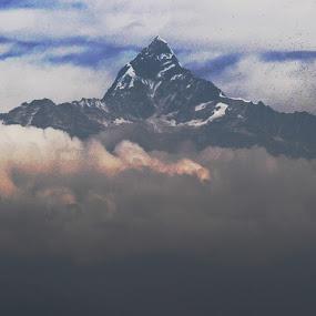 Mt. Fishtail by Raj Tandukar - Landscapes Mountains & Hills ( pokhara, mountain, fishtail )