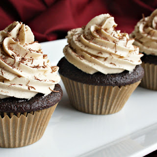 Hazelnut Mocha Cupcakes with Coffee Buttercream Frosting.