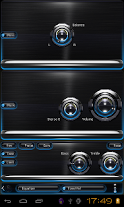Poweramp skin Light Blue Glow v1.42