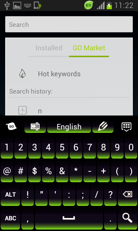 Green Keypad for Android - screenshot
