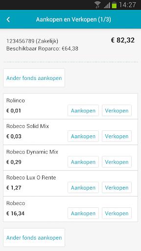 Screenshots #5. Mijn Robeco / Android