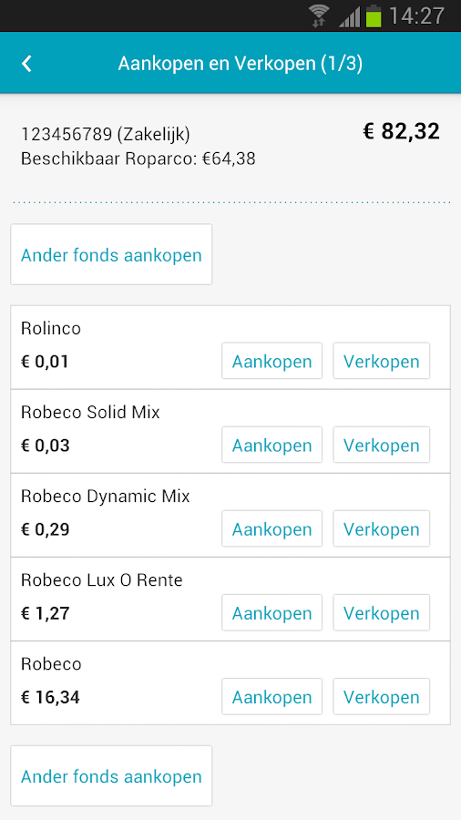 Mijn Robeco - screenshot